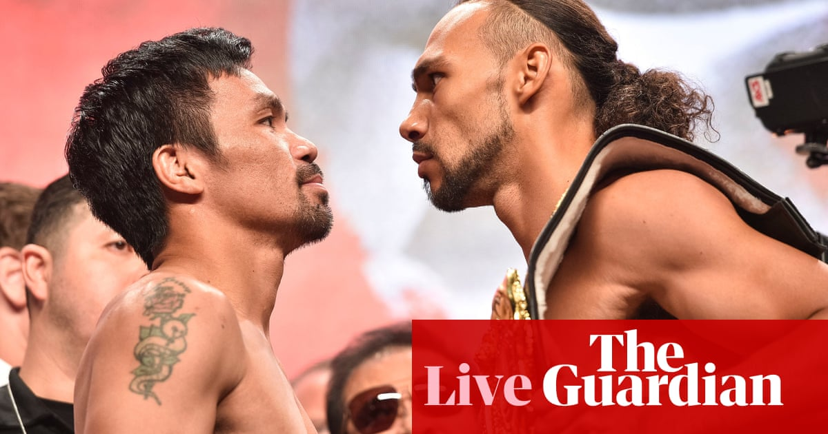 Manny Pacquiao v Keith Thurman: WBA welterweight championship – live! | Sport