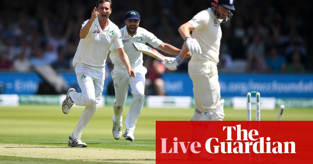 England v Ireland: Lord's Test match, day one - live! | Sport