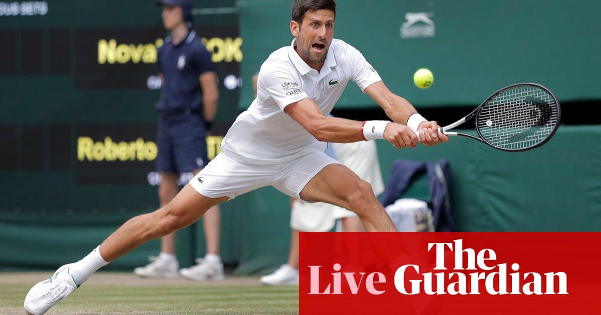 Wimbledon semi-final: Novak Djokovic v Roberto Bautista Agut – live! | Sport