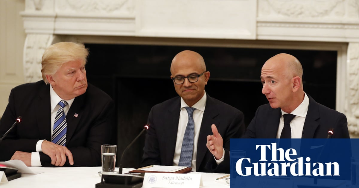 Amazon and Microsoft battle for $10bn 'war cloud' contract with Pentagon | US news