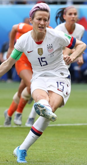 Megan Rapinoe at the 2019 Women's World Cup.