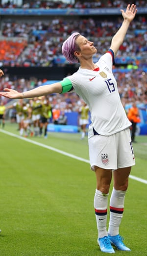 Megan Rapinoe at the Women's World Cup in France this year.